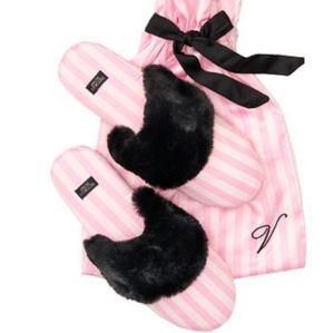 Victoria's Secret Slipper Shoes Gift Bag LG NWT
